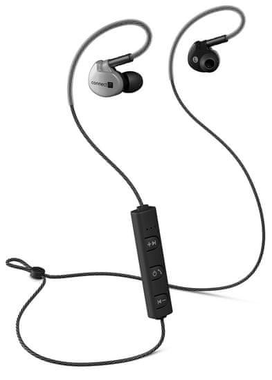 Connect IT Wireless Sport Sonics Bluetooth bezdrátová sluchátka, antracitová