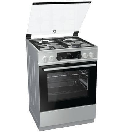 Gorenje kuchnia gazowo-elektryczna K6351XF