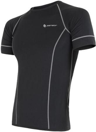 Sensor Coolmax Fresh rövid ujjú férfi póló fekete M