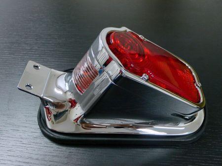 Highway-Hawk moto koncové svetlo TOMBSTONE s držiakom ŠPZ, E-mark, oceľ, chróm (1ks)