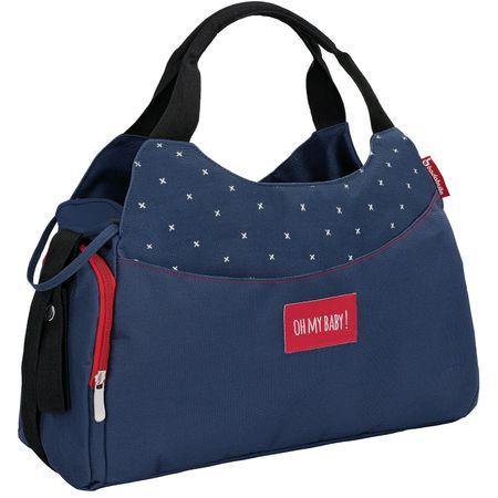 Badabulle previjalna torba Multipocket, temno modra