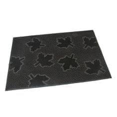 FLOMAT Gumová vstupní kartáčová rohož Leaves - 60 x 40 x 0,8 cm