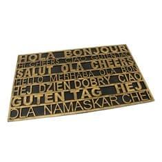 FLOMAT Gumová vstupní rohož Multilanguage - 75 x 45 x 0,9 cm