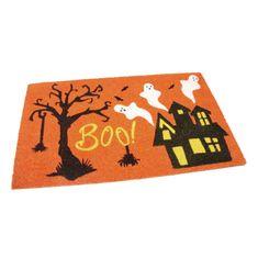FLOMAT Kokosová vstupní rohož Scary House - 75 x 45 x 1,7 cm