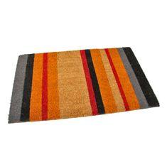 FLOMAT Kokosová vstupní rohož Stripes - 75 x 45 x 1,7 cm