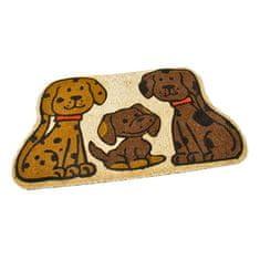 FLOMA Kokosová vstupní rohož Happy Dogs - 75 x 45 x 1,7 cm