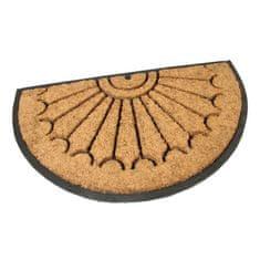 FLOMAT Gumová kokosová vstupní půlkruhová rohož Rays - 75 x 45 x 2,2 cm
