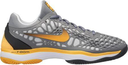 Nike moška obutev Zoom Cage 3 Clay Tennis Shoe, Cool Grey Laser Orange-Black-White, 42,5