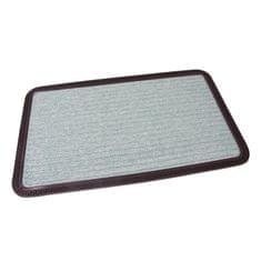 FLOMAT Zelená textilní vstupní rohož Stripes - 75 x 45 x 0,8 cm