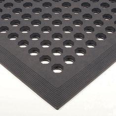 Černá gumová protiskluzová protiúnavová průmyslová rohož - 150 x 90 x 1,2 cm