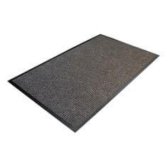 Šedá textilní čistící vnitřní vstupní rohož 04 - 0,7 cm