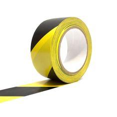 Černo-žlutá vyznačovací podlahová páska - 33 m x 5 cm