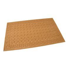 FLOMAT Hnědá textilní vstupní rohož Bricks - Deco - 75 x 45 x 1 cm