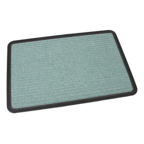 FLOMA Zelená textilní vstupní rohož Stripes - 90 x 60 x 0,8 cm