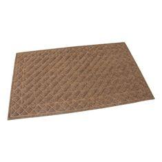 FLOMAT Hnědá textilní vstupní rohož Bricks - Squares - 75 x 45 x 1 cm