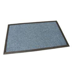 FLOMAT Modrá textilní vstupní rohož Little Squares - 75 x 45 x 1 cm
