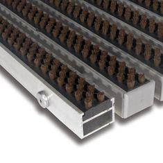 FLOMA Hnědá hliníková kartáčová venkovní vstupní rohož Alu Super, FLOMA - 2,7 cm