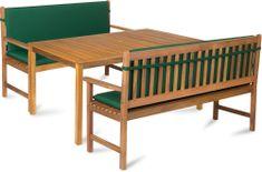 Fieldmann zestaw mebli ogrodowych CALYPSO 6L zielony