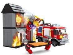 Rappa komplet Ausini gasilci, goreča hiša, 374 delov