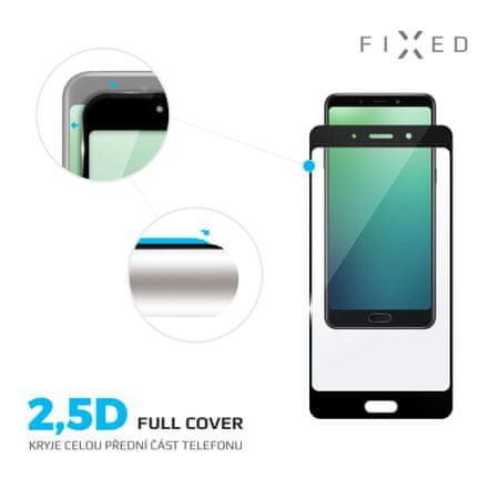 Fixed Keményített védőüveg Full-Cover a Nokia 7 telefonra, teljes kijelzőre, 0.33 mm, fekete