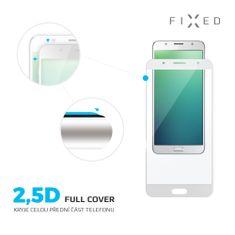Fixed Keményített védőüveg Full-Cover a Honor 7X okostelefonra, teljes kijelzőre, 0.33 mm, fehér
