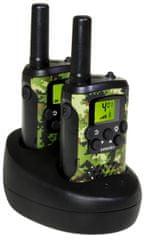 Evolveo FreeTalk XM2, sada 2 vysielačiek s duálnou nabíjacou základňou