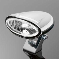 Highway-Hawk prídavné svetlo motocykla  MINI OVAL, E-mark, chróm (1ks)