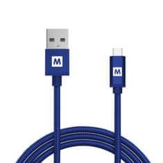 MAX kabel micro USB 2.0 opletený 1m, modrá