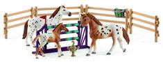 Schleich Appaloosa ló szett gyakorlófelszereléssel 42433