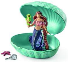 Schleich Morská panna s morským koníkom v mušli 70563