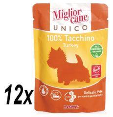 Miglior Cane Unico kapsička krůtí 12 x 100g