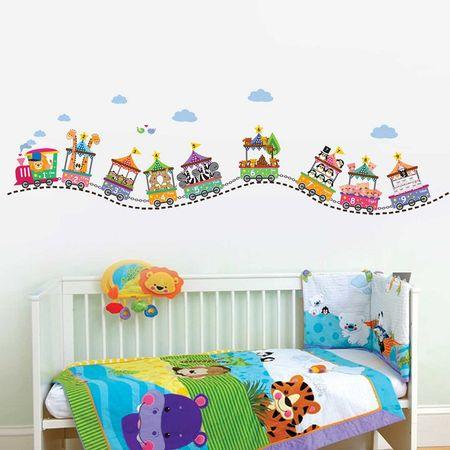 Walplus Samolepky na stenu, vláčik so zvieratkami