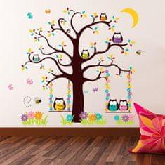 Walplus naklejki na ścianę, sowy na drzewie