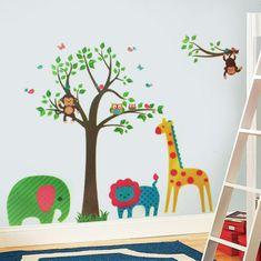 Walplus naklejki na ścianę, zwierzątka z safari