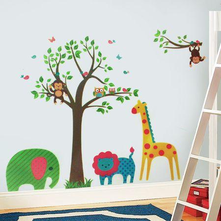 Walplus Samolepky na stenu, safari