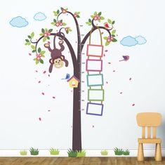 Walplus stenska nalepka, Drevo z opico