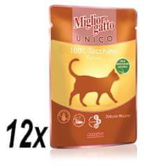 Miglior Gatto Unico mokra hrana, puran, 12 x 85 g