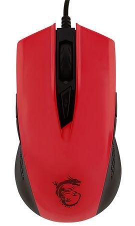 MSI mysz optyczna GM 40 czerwona (GM 40 Glossy Red)