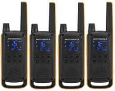 MOTOROLA walkie - talkie TLKR T82 Extreme, Quadpack, żółte/czarne