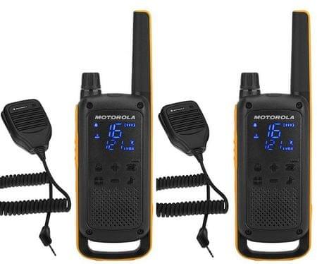 Motorola radio postaja Walkie Talkie T82 Extreme RSM, žuto-crna