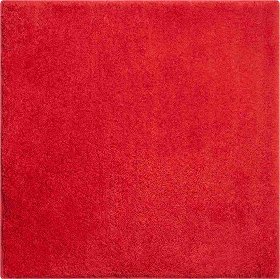 GRUND Luxusná bavlnená kúpeľňová predložka, MANHATTAN 55 x 55 cm, červená