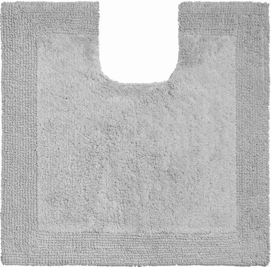 GRUND Luxusná bavlnená obojstranná kúpeľňová predložka, LUXOR 60 x 60 cm s.v., sivá
