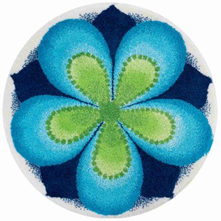 GRUND czeski dywanik łazienkowy, NAPLNĚNÍ ø 100 cm, niebieski
