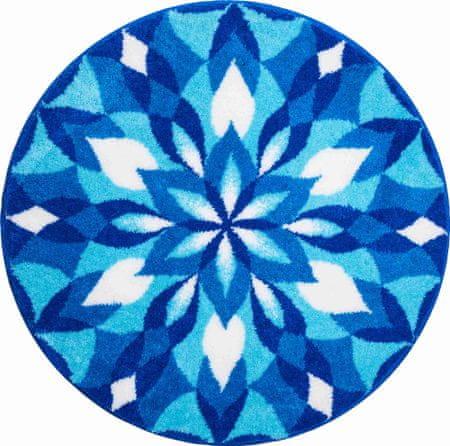 GRUND Česká koupelnová předložka, KŘÍDLA RADOSTI ø 100 cm, modrá