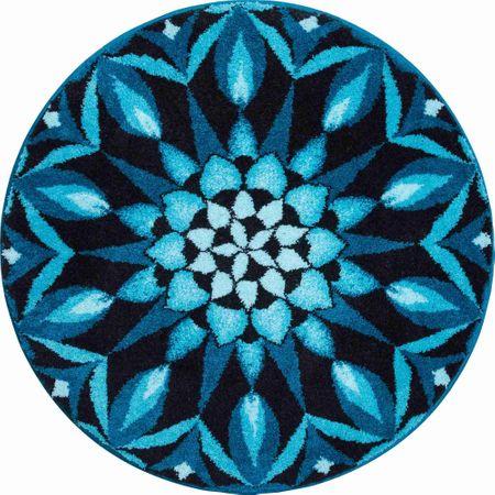 GRUND czeski dywanik łazienkowy, POZNÁNÍ ø 80 cm, turkusowy