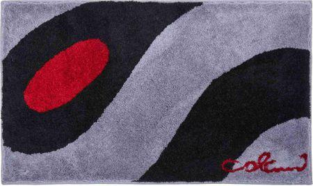 Colani Luksusowy designerski dywanik łazienkowy, Colani 35 70 x 120 cm, czarny/szary