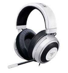 Razer slušalke Kraken PRO V2, ovalne ušesne blazinice, bele