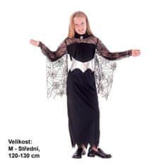 MaDe Kostým na karneval - Kráľovná pavúkov, 120-130 cm