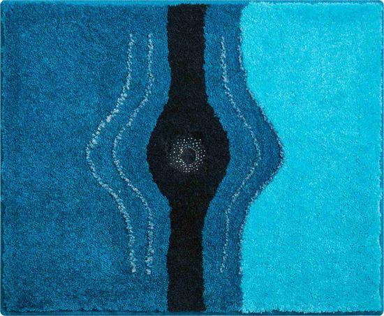 GRUND s kryštálmi SWAROVSKI - exkluzívna česká kúpeľňová predložka, CRYSTAL LIGHT 50 x 60 cm, tyrkysová