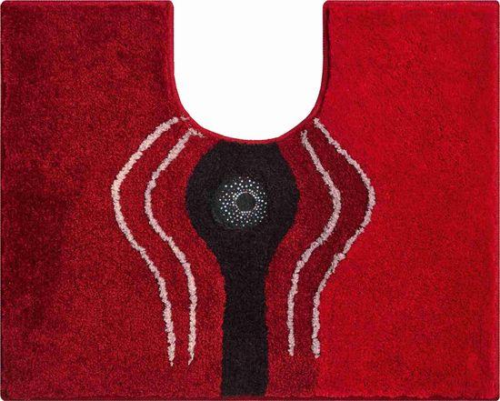 GRUND s kryštálmi SWAROVSKI - exkluzívna česká kúpeľňová predložka, CRYSTAL LIGHT 50 x 60 cm s.v., červená